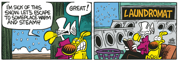 Cartoonist Mike Peters  Mother Goose and Grimm 2016-12-14 great
