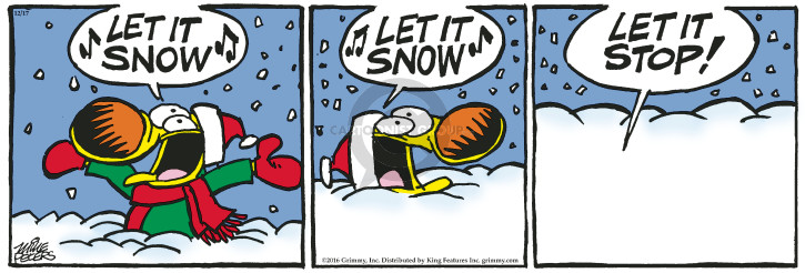 Comic Strip Mike Peters  Mother Goose and Grimm 2016-12-17 snow