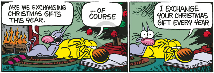 Cartoonist Mike Peters  Mother Goose and Grimm 2016-12-22 gift