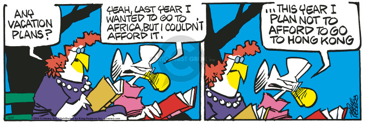 Comic Strip Mike Peters  Mother Goose and Grimm 2016-12-27 vacation