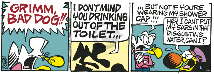 Comic Strip Mike Peters  Mother Goose and Grimm 2016-12-29 drink