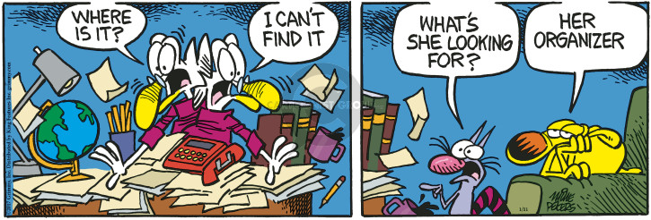 Comic Strip Mike Peters  Mother Goose and Grimm 2017-01-11 lost and found