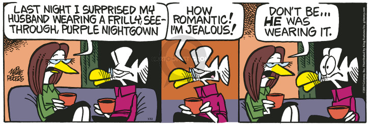 Comic Strip Mike Peters  Mother Goose and Grimm 2017-01-12 romantic