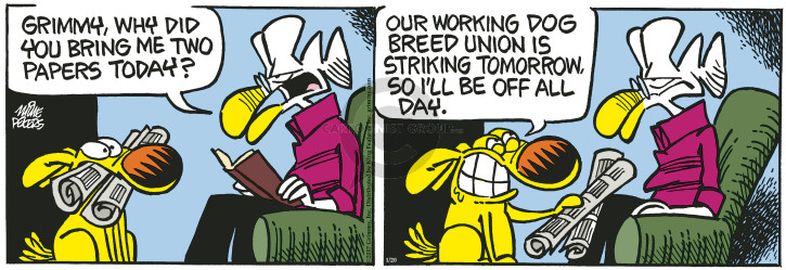 Comic Strip Mike Peters  Mother Goose and Grimm 2017-01-20 paper