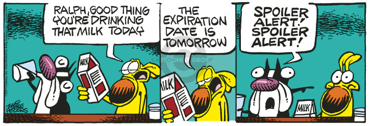 Comic Strip Mike Peters  Mother Goose and Grimm 2017-01-25 spoil