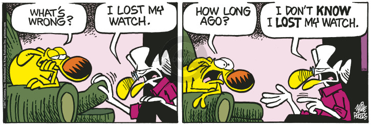 Cartoonist Mike Peters  Mother Goose and Grimm 2017-01-26 lose