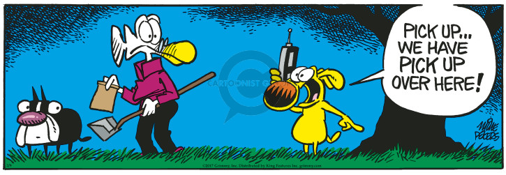Comic Strip Mike Peters  Mother Goose and Grimm 2017-02-09 scoop