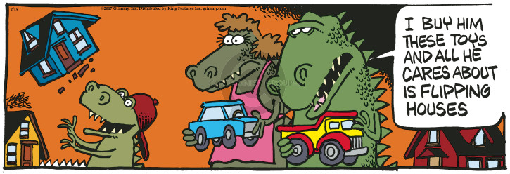 Comic Strip Mike Peters  Mother Goose and Grimm 2017-02-15 godzilla