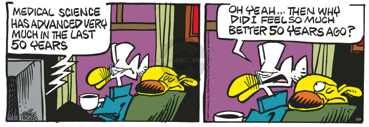 Comic Strip Mike Peters  Mother Goose and Grimm 2017-02-25 old age