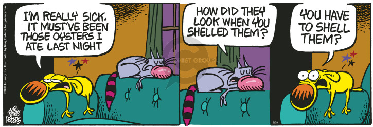 Comic Strip Mike Peters  Mother Goose and Grimm 2017-02-28 illness