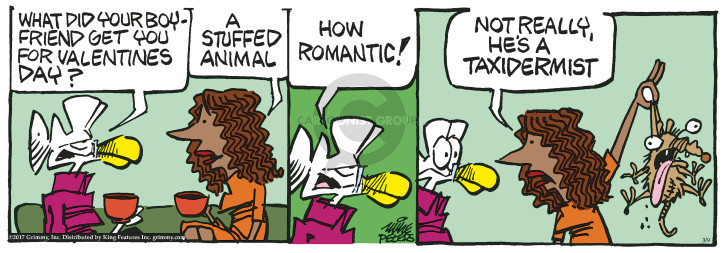 Cartoonist Mike Peters  Mother Goose and Grimm 2017-03-09 Valentine's Day