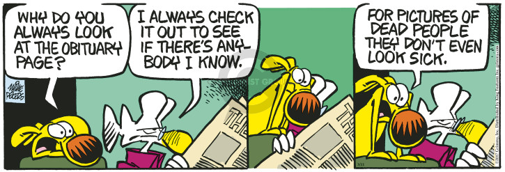 Cartoonist Mike Peters  Mother Goose and Grimm 2017-03-11 check
