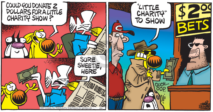 Comic Strip Mike Peters  Mother Goose and Grimm 2017-03-19 horse