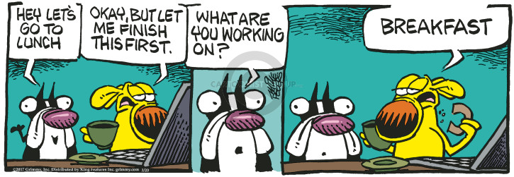 Cartoonist Mike Peters  Mother Goose and Grimm 2017-03-20 working mother