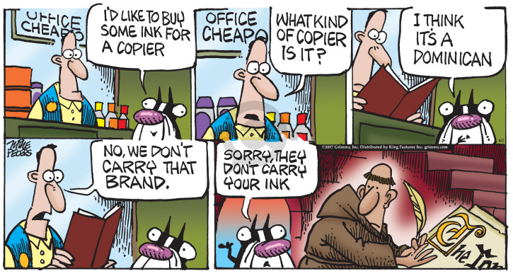 Comic Strip Mike Peters  Mother Goose and Grimm 2017-04-02 write