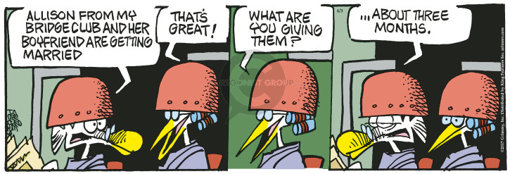Cartoonist Mike Peters  Mother Goose and Grimm 2017-04-03 gift