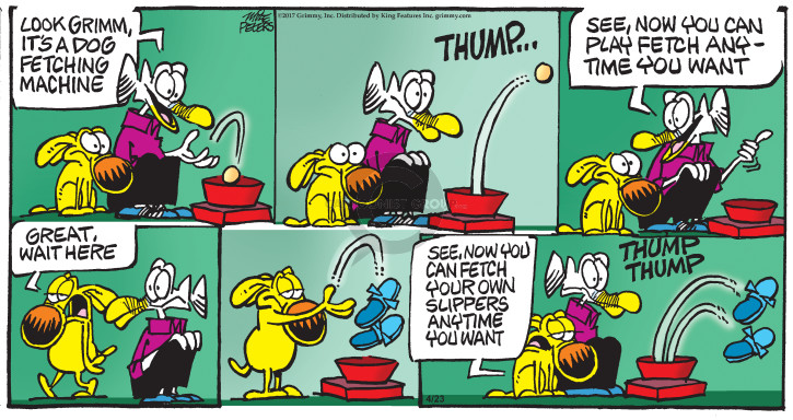 Comic Strip Mike Peters  Mother Goose and Grimm 2017-04-23 machine