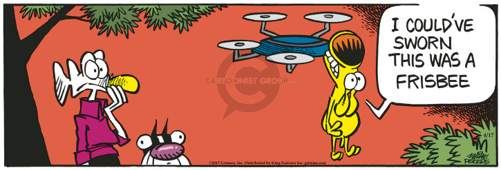 Comic Strip Mike Peters  Mother Goose and Grimm 2017-04-17 frisbee