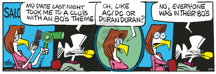 Cartoonist Mike Peters  Mother Goose and Grimm 2017-04-19 aging