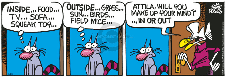Comic Strip Mike Peters  Mother Goose and Grimm 2017-04-21 toy