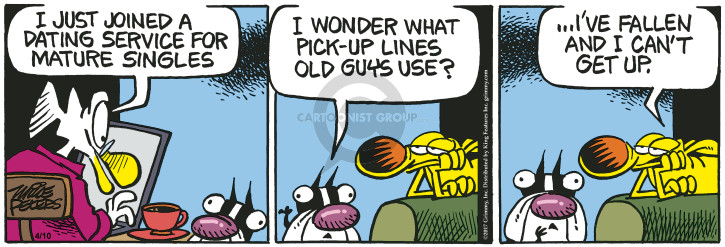 Comic Strip Mike Peters  Mother Goose and Grimm 2017-04-10 pickup line
