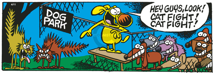 Cartoonist Mike Peters  Mother Goose and Grimm 2017-04-11 dog park
