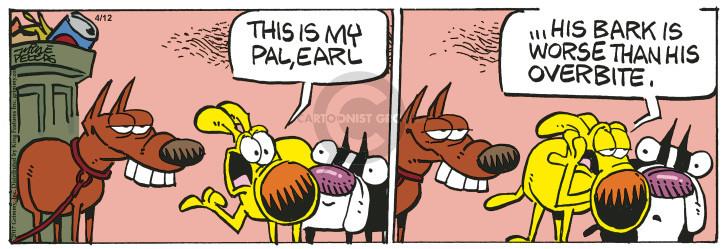 Cartoonist Mike Peters  Mother Goose and Grimm 2017-04-12 bark