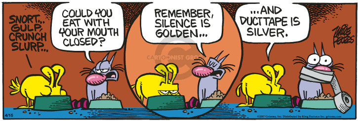 Cartoonist Mike Peters  Mother Goose and Grimm 2017-04-15 golden goose