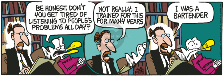 Comic Strip Mike Peters  Mother Goose and Grimm 2017-04-26 therapy