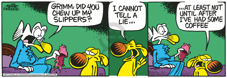 Cartoonist Mike Peters  Mother Goose and Grimm 2017-05-01 deception