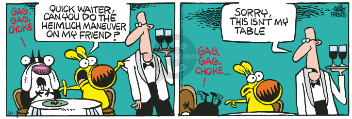 Comic Strip Mike Peters  Mother Goose and Grimm 2017-05-03 friend