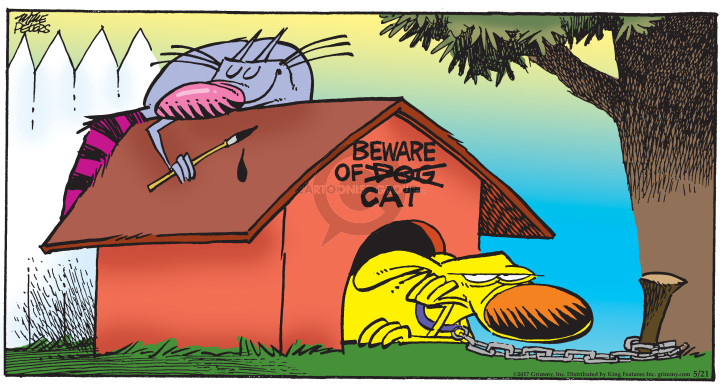 Comic Strip Mike Peters  Mother Goose and Grimm 2017-05-21 security