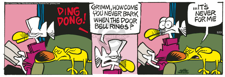 Cartoonist Mike Peters  Mother Goose and Grimm 2017-05-15 bark