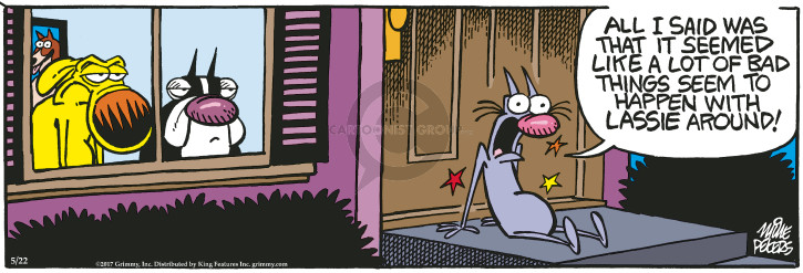 Comic Strip Mike Peters  Mother Goose and Grimm 2017-05-22 happen