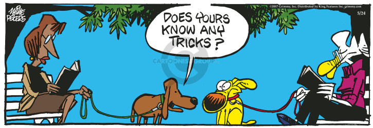 Cartoonist Mike Peters  Mother Goose and Grimm 2017-05-24 dog trick