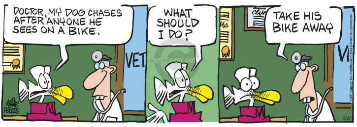 Comic Strip Mike Peters  Mother Goose and Grimm 2017-05-27 vet