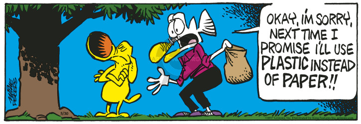 Comic Strip Mike Peters  Mother Goose and Grimm 2017-05-30 plastic bag
