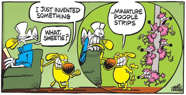 Cartoonist Mike Peters  Mother Goose and Grimm 2017-06-25 breed