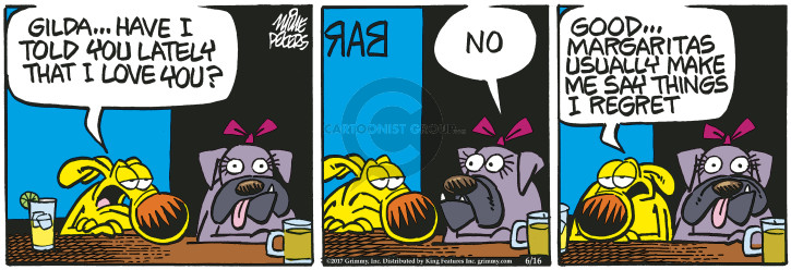 Comic Strip Mike Peters  Mother Goose and Grimm 2017-06-16 drink