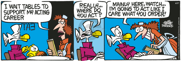 Comic Strip Mike Peters  Mother Goose and Grimm 2017-06-17 restaurant