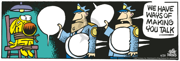 Cartoonist Mike Peters  Mother Goose and Grimm 2017-06-20 police