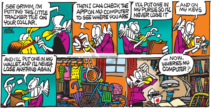 Cartoonist Mike Peters  Mother Goose and Grimm 2017-07-02 computer