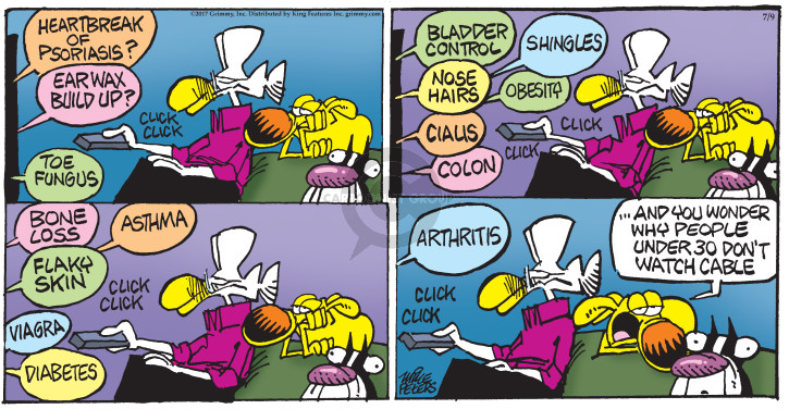 Comic Strip Mike Peters  Mother Goose and Grimm 2017-07-09 advertising