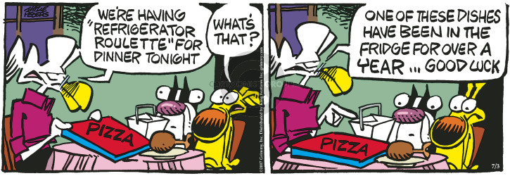Comic Strip Mike Peters  Mother Goose and Grimm 2017-07-03 left