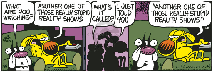 Cartoonist Mike Peters  Mother Goose and Grimm 2017-07-10 stupid