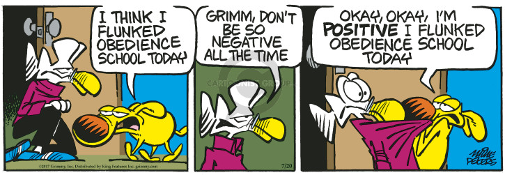 Cartoonist Mike Peters  Mother Goose and Grimm 2017-07-20 dog obedience