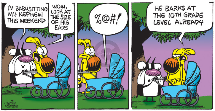 Cartoonist Mike Peters  Mother Goose and Grimm 2017-07-30 bark