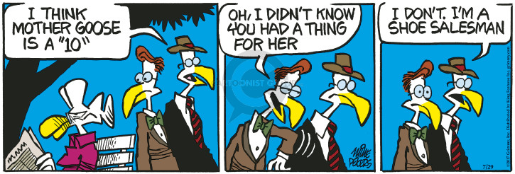 Cartoonist Mike Peters  Mother Goose and Grimm 2017-07-29 thing