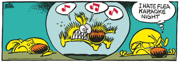 Comic Strip Mike Peters  Mother Goose and Grimm 2017-08-01 loud noise