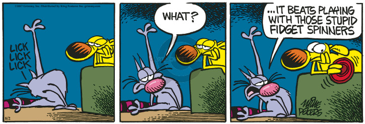 Comic Strip Mike Peters  Mother Goose and Grimm 2017-08-02 lick